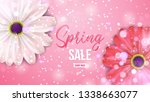 spring sale background with... | Shutterstock .eps vector #1338663077