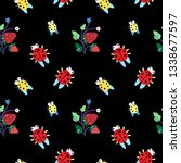 summer color doodle seamless... | Shutterstock .eps vector #1338677597