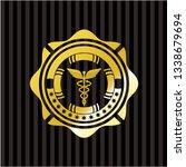 caduceus medical icon inside...   Shutterstock .eps vector #1338679694
