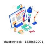 social media marketing   modern ...   Shutterstock . vector #1338682001