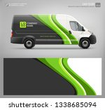 van wrap decal for livery... | Shutterstock .eps vector #1338685094
