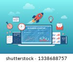 business project startup ... | Shutterstock .eps vector #1338688757