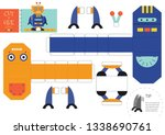 cut and glue robot toy vector... | Shutterstock .eps vector #1338690761