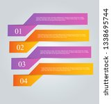 infographic banners. colorful... | Shutterstock .eps vector #1338695744