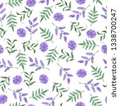 seamless pattern with lavender... | Shutterstock . vector #1338700247