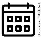 calendar icon  line design. | Shutterstock .eps vector #1338707594