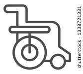 disabled chair line icon....   Shutterstock .eps vector #1338721331