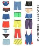a set of men's underwear and... | Shutterstock .eps vector #133873469