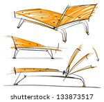 picture of the chair. sketch... | Shutterstock .eps vector #133873517