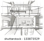 architectural sketch | Shutterstock .eps vector #133873529