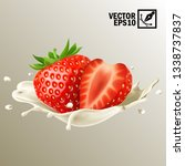 3d realistic isolated vector... | Shutterstock .eps vector #1338737837