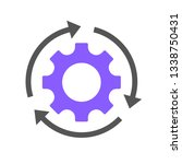 workflow process icon in flat... | Shutterstock .eps vector #1338750431