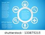 round template  eps10 vector... | Shutterstock .eps vector #133875215