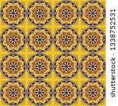 italian tile pattern vector... | Shutterstock .eps vector #1338752531