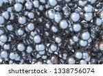 steel rusty ball 3d... | Shutterstock . vector #1338756074