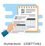 service tax financial document... | Shutterstock .eps vector #1338771461