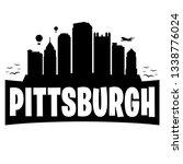 pittsburgh pennsylvania. city... | Shutterstock .eps vector #1338776024