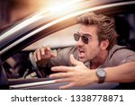 side view of frustrated man... | Shutterstock . vector #1338778871