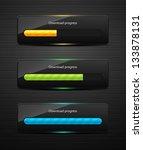 loading bars for web design.... | Shutterstock .eps vector #133878131
