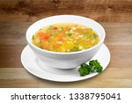 bowl of delicious vegetables... | Shutterstock . vector #1338795041