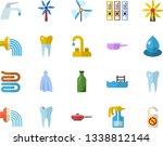 color flat icon set faucet flat ...   Shutterstock .eps vector #1338812144