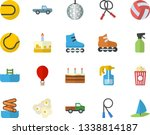 color flat icon set cake flat...   Shutterstock .eps vector #1338814187