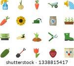 color flat icon set wheelbarrow ...   Shutterstock .eps vector #1338815417