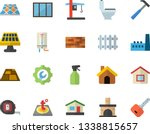 color flat icon set house flat...   Shutterstock .eps vector #1338815657