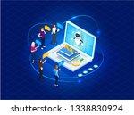 concept e learning... | Shutterstock .eps vector #1338830924