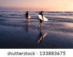 Two Men   Surfers In Black...