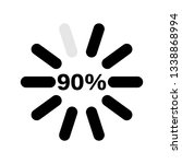 percentage loading indicators... | Shutterstock .eps vector #1338868994