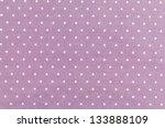 Purple Fabric And White Tiny...