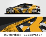 car sporty wrap decal design... | Shutterstock .eps vector #1338896537
