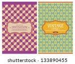 invitation vintage retro cards... | Shutterstock .eps vector #133890455