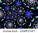 a hand drawing pattern made of... | Shutterstock . vector #1338927497