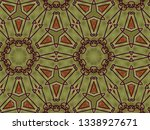 a hand drawing pattern made of... | Shutterstock . vector #1338927671