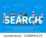 online searching concept... | Shutterstock .eps vector #1338944174