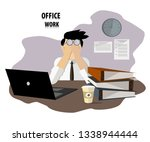 man laptop and paper | Shutterstock .eps vector #1338944444