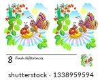 logic puzzle game for children... | Shutterstock .eps vector #1338959594
