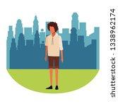 young man cartoon | Shutterstock .eps vector #1338962174