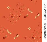 vintage memphis pattern.... | Shutterstock .eps vector #1338965714