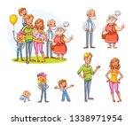 my big family together. family... | Shutterstock .eps vector #1338971954