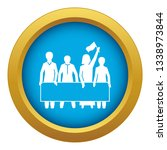 demonstration crowd icon blue...   Shutterstock .eps vector #1338973844