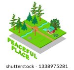 peaceful place concept banner.... | Shutterstock .eps vector #1338975281