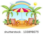 illustration of a seashore with ... | Shutterstock .eps vector #133898075