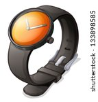 illustration of a black watch...   Shutterstock .eps vector #133898585