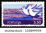 portugal   circa 1971  a stamp... | Shutterstock . vector #133899959