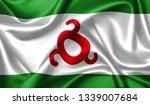 ingushetia  flag waving in the...   Shutterstock . vector #1339007684
