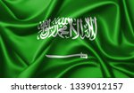 saudi arabia  flag waving in... | Shutterstock . vector #1339012157