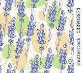 seamless pattern with lavender. | Shutterstock .eps vector #133903871